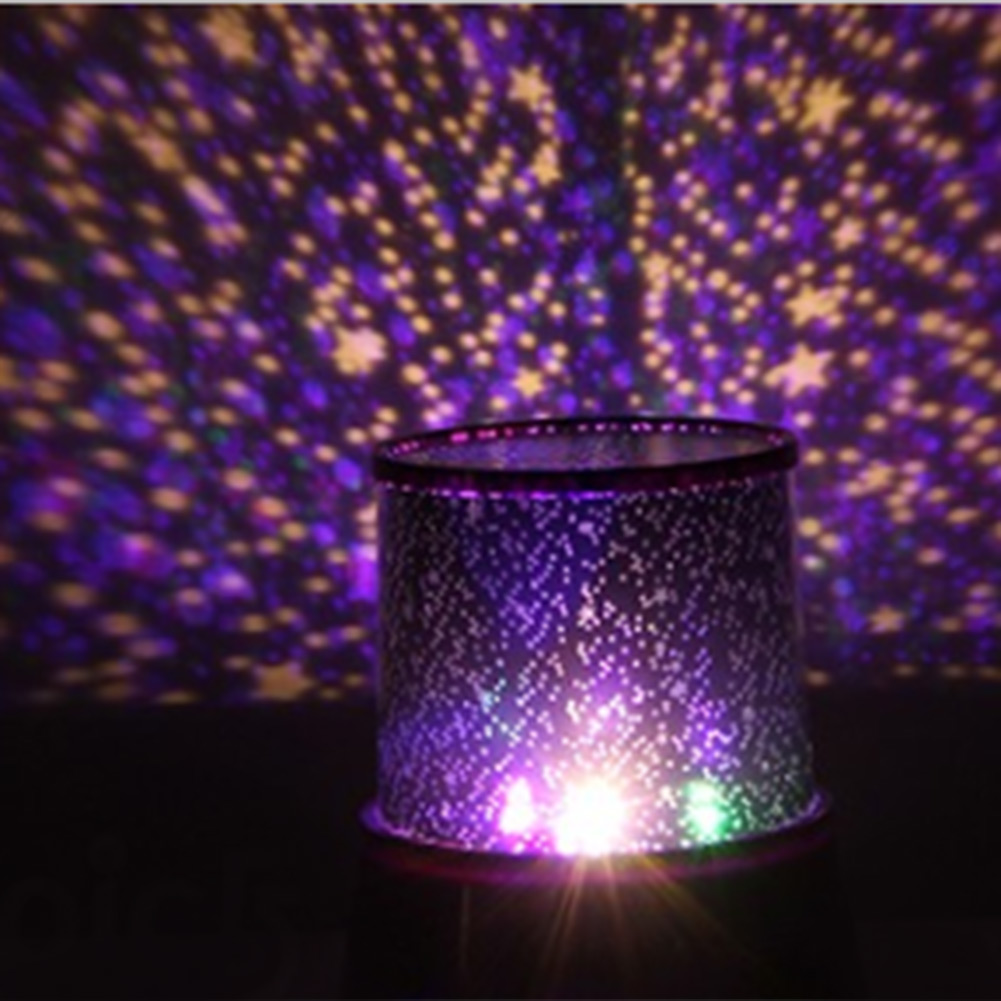 romantic cute 4 led starry sky projector night light lamp. Black Bedroom Furniture Sets. Home Design Ideas