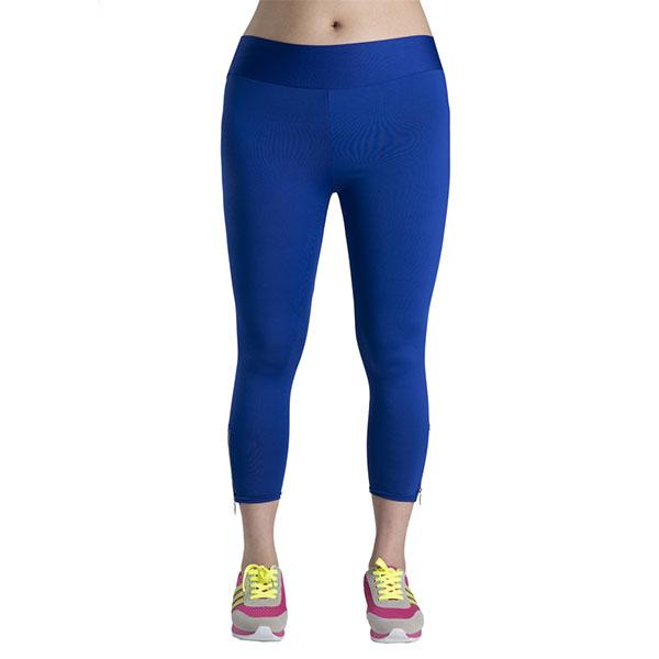 New Women Lady Capri Yoga Sports Skinny Fit Zip Pants Fitness Trousers