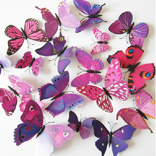 12pcs 3D Butterfly Sticker Decal Wall Decals Home Decor Room Decorations