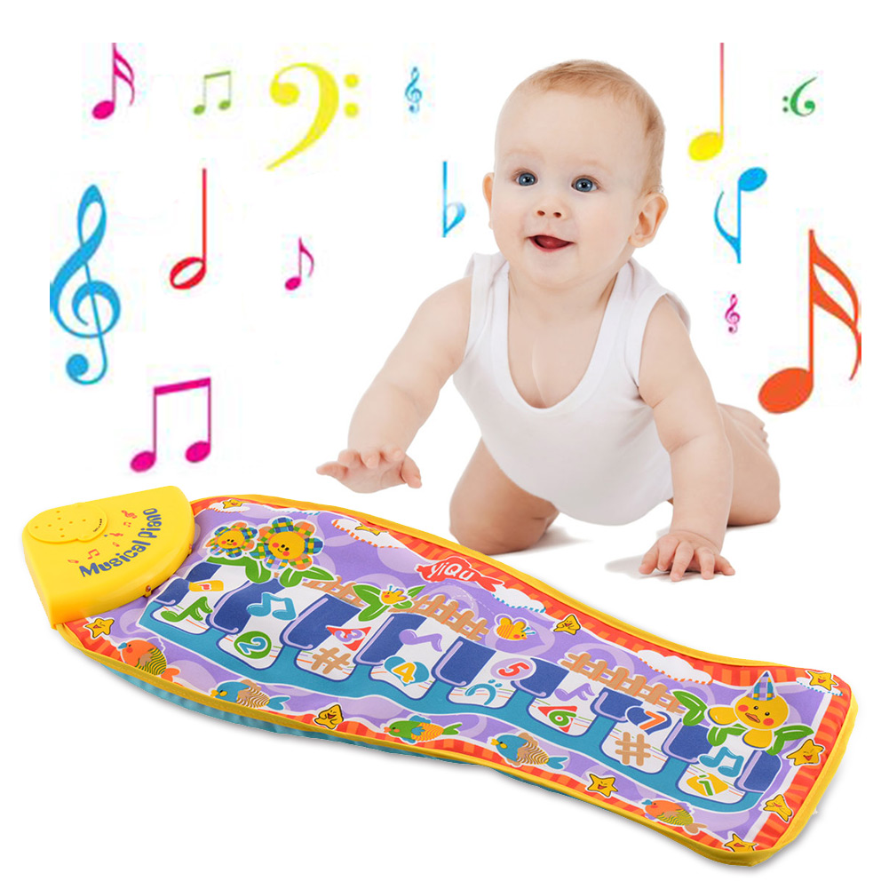 Cute baby funny piano blanket mat pad fish shape for Baby fish song