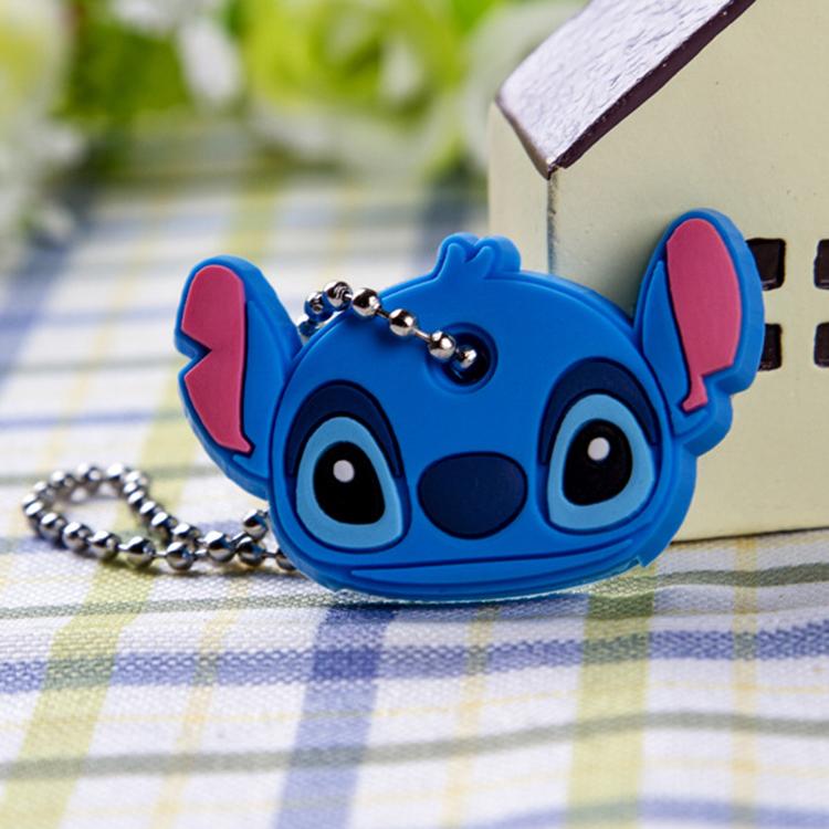 Cartoon Animal Silicone Key Caps Covers Keys Keychain Shell Topper Keyring