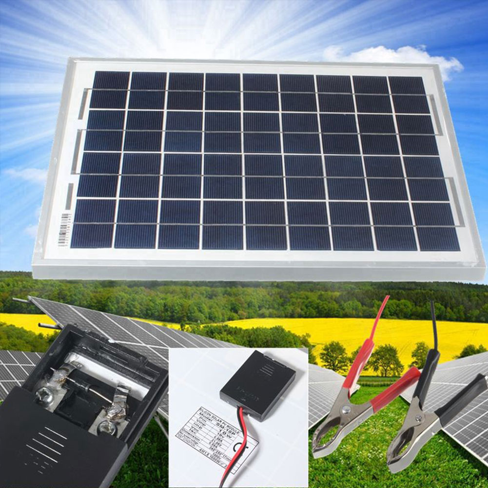 50W 20W 10W 12V Car Camping Solar Panel Battery Charger