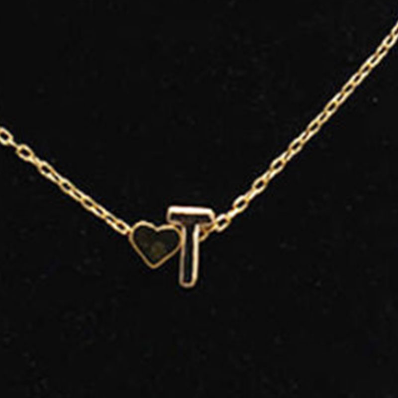 26-Letter-Heart-Shaped-Charm-Pendants-Necklace-Simple-Lovers-Gift-Gold-Choker