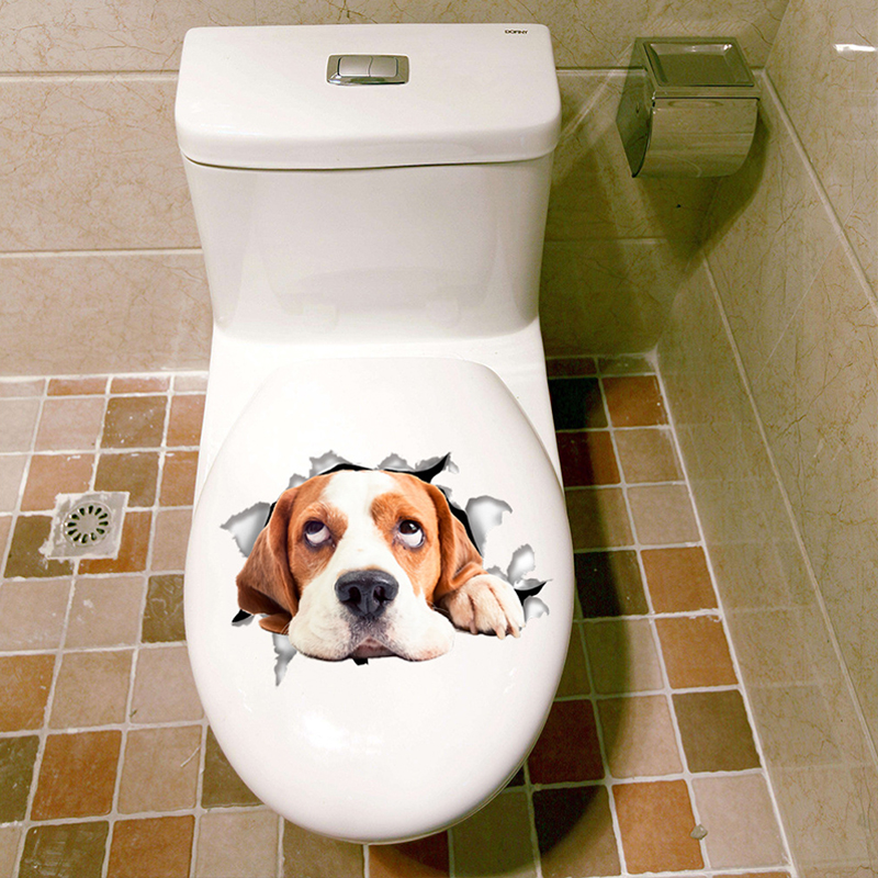 Stimulation-Wall-Sticker-Animal-Dog-Kitten-Living-Room-Toilet-Cover-Decal