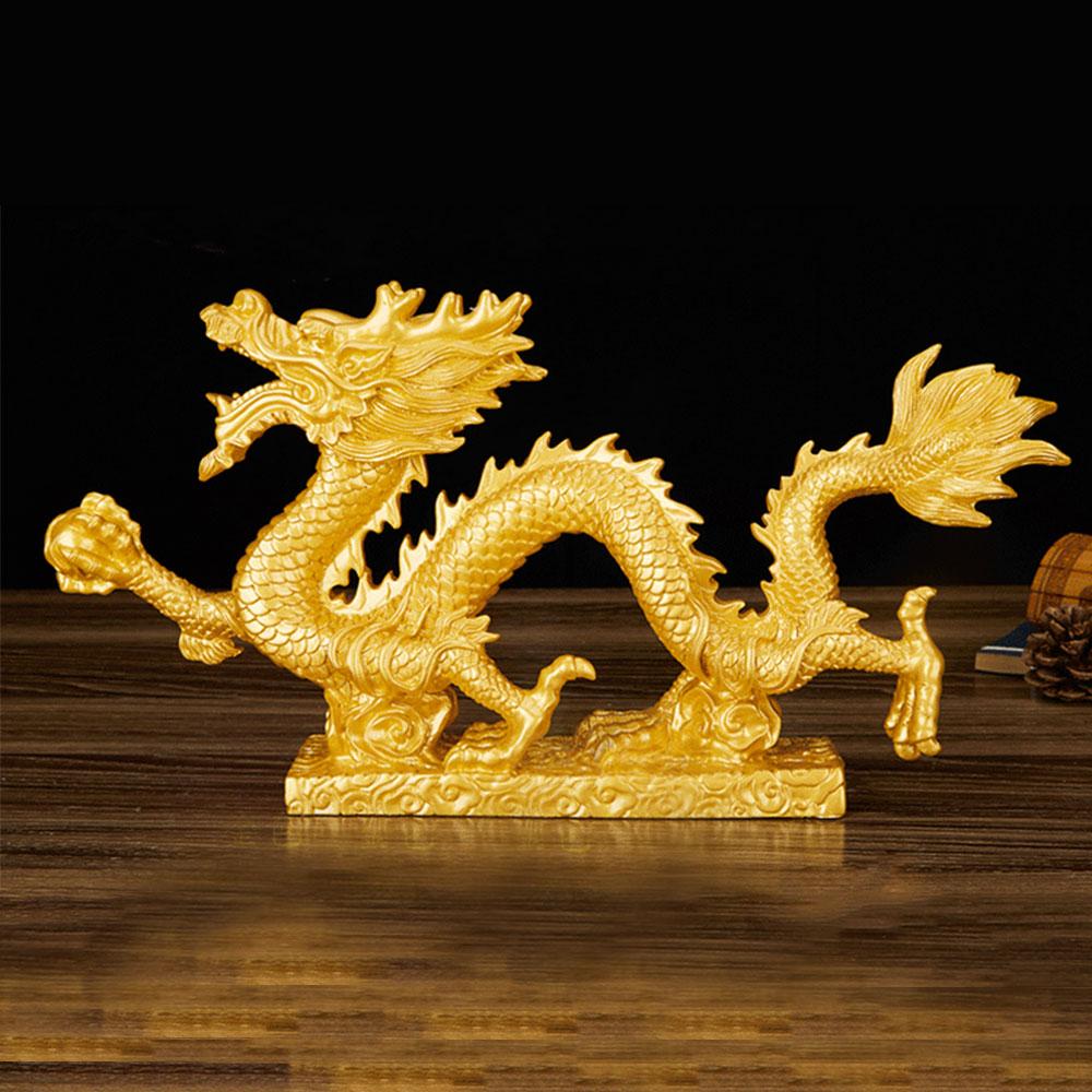 4DA0-Dragon-Figurine-Chinese-Feng-Shui-Statue-Exhibition-Decoration-Gold-Bronze
