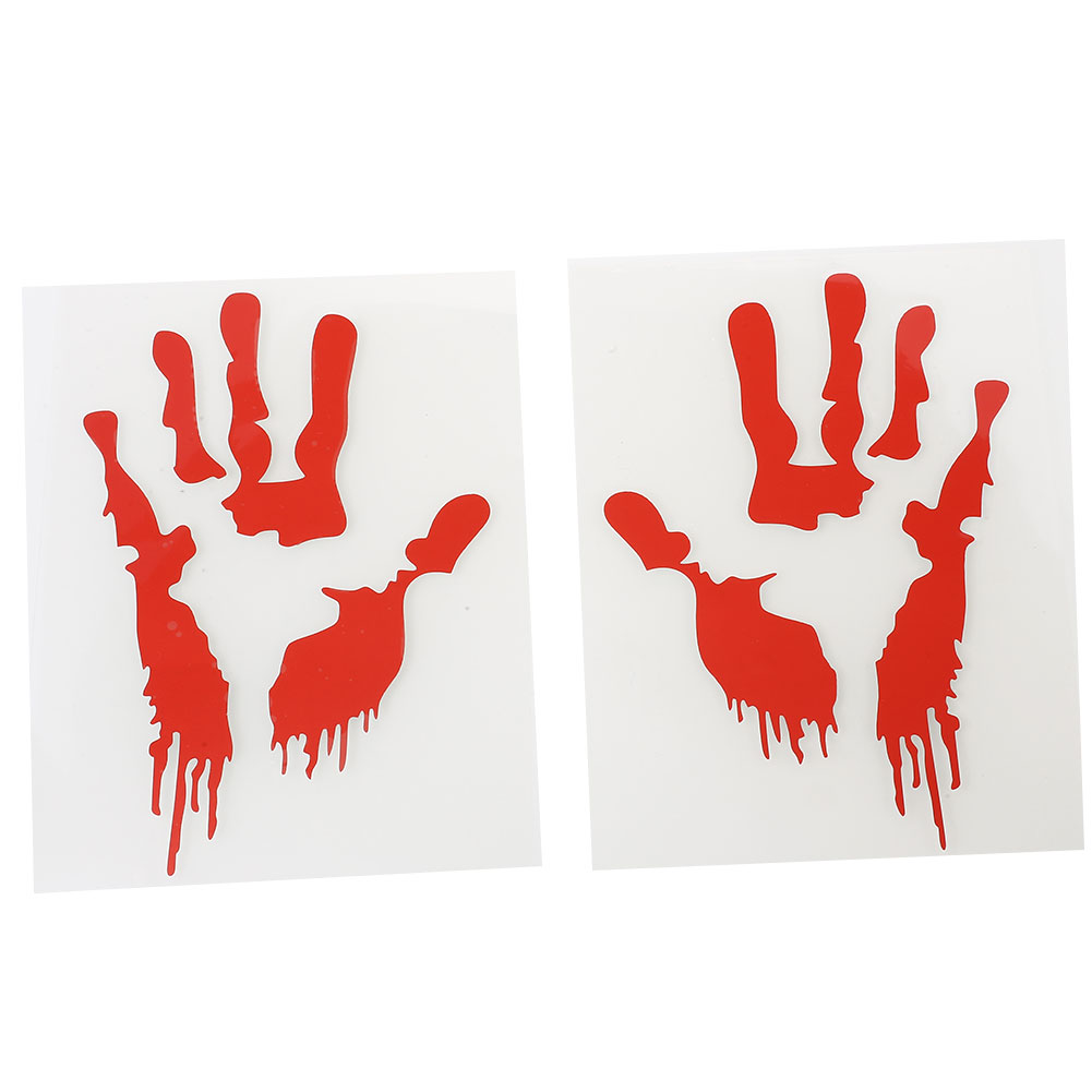 Horror-Personalized-Bloodprints-Wall-Sticker-Art-Decal-Scary-KTV-Decors