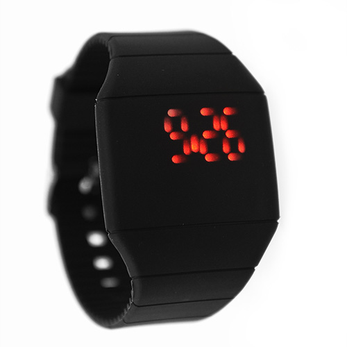 touch screen silicone plastic band digital led