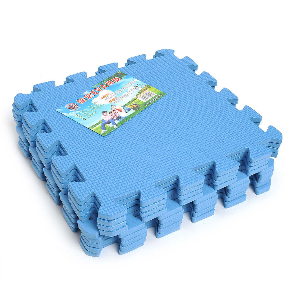 9 pcs interlocking anti fatigue waterproof puzzle floor for Foam flooring