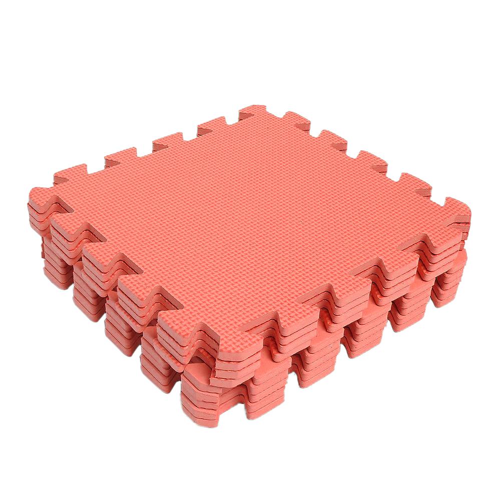 9pcs Interlocking Eva Soft Foam Exercise Floor Mats Gym