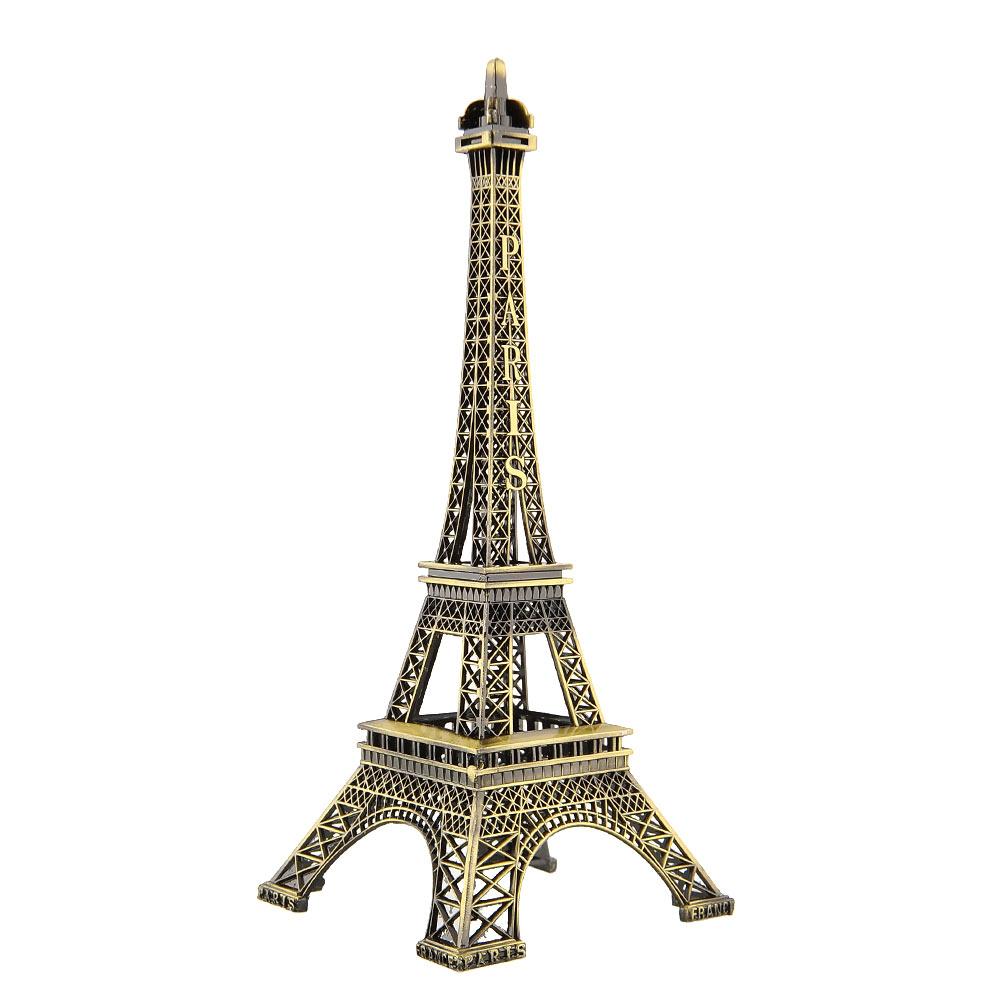 Bronze Paris Eiffel Tower Figurine Metal craft Sculpture Imitation Model 5 Size
