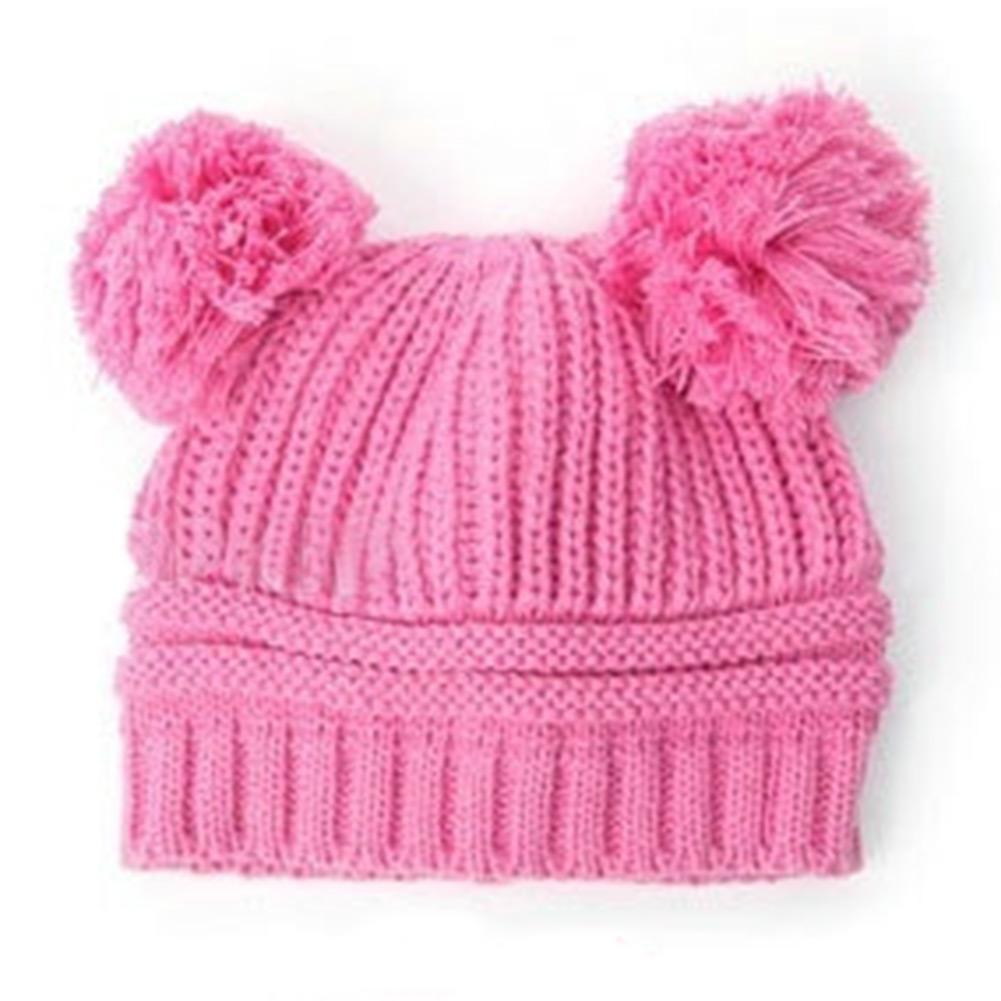 Розовая шапочка для девочки вязание