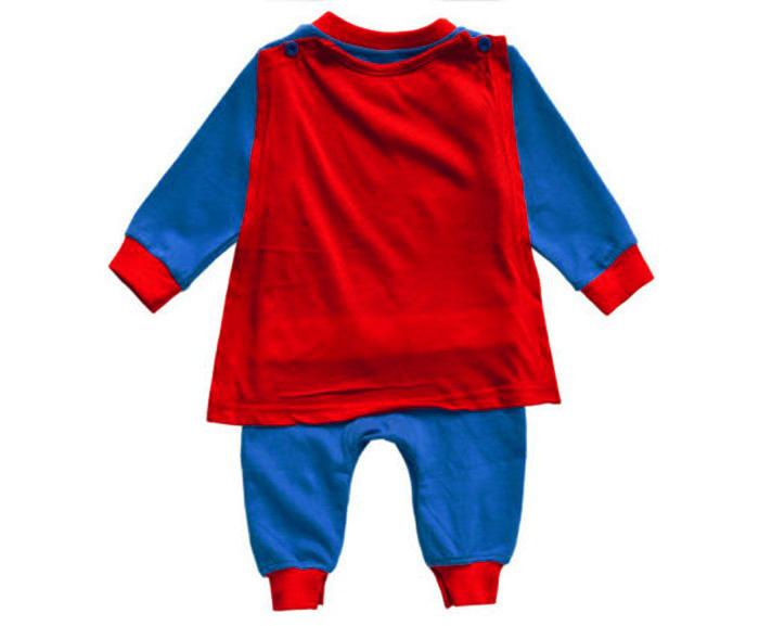 superman long sleeve baby dress infant romper halloween jump