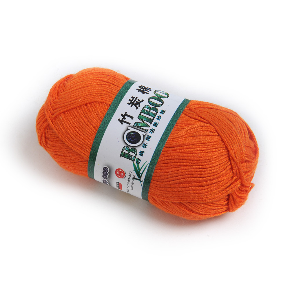 Brand-New-Useful-Knitting-Yarn-Smooth-Bamboo-Cotton-Skein-50g-Multi ...