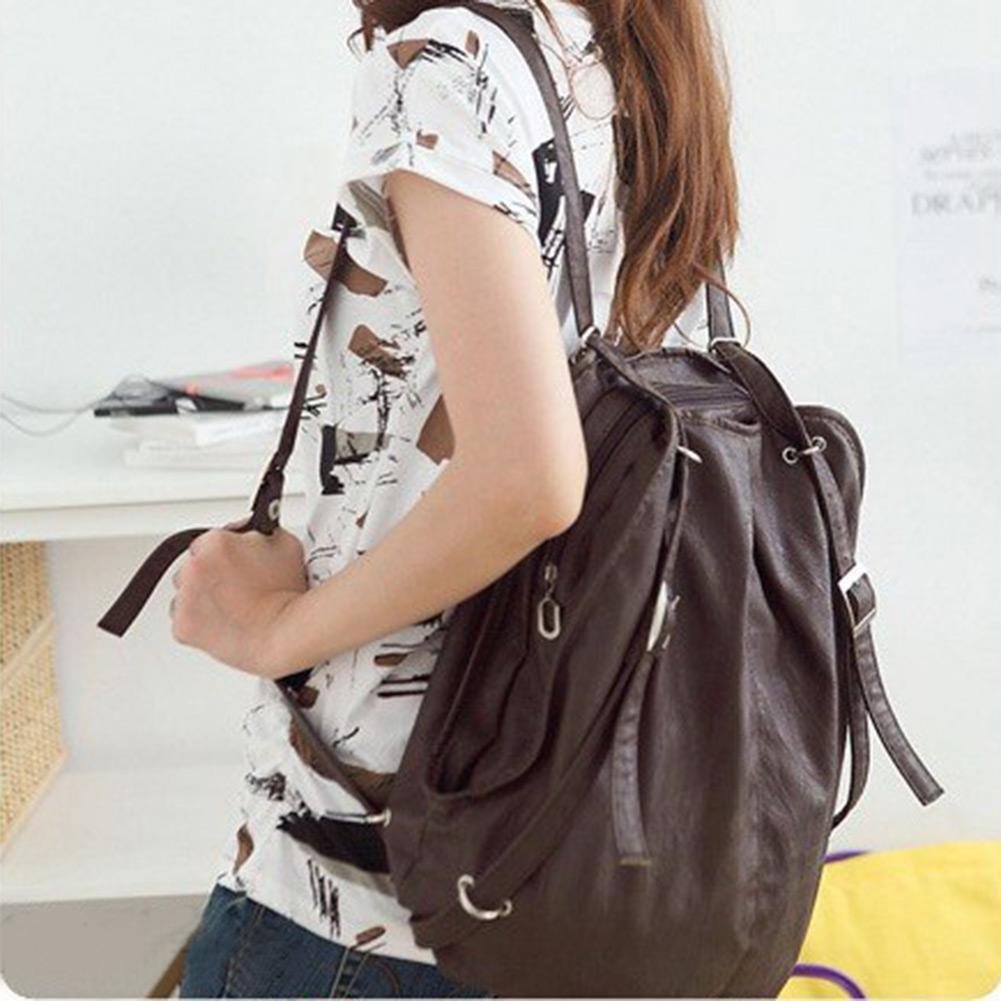 New Womens Lady  PU Messenger Hobo Handbag Shoulder Bag Backpack Tote Purse