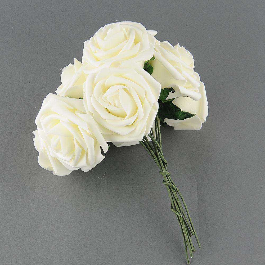 10 Heads Artificial Rose Flower Wedding Bridal Bouquet Party Home Decor