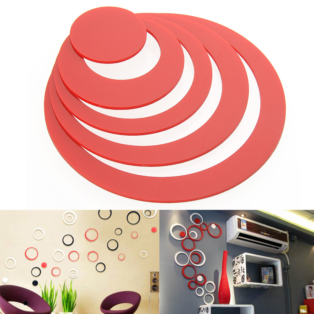 Nice 3D Circles DIY Vinyl Art Wall Sticker Home Decor Removable Decoration