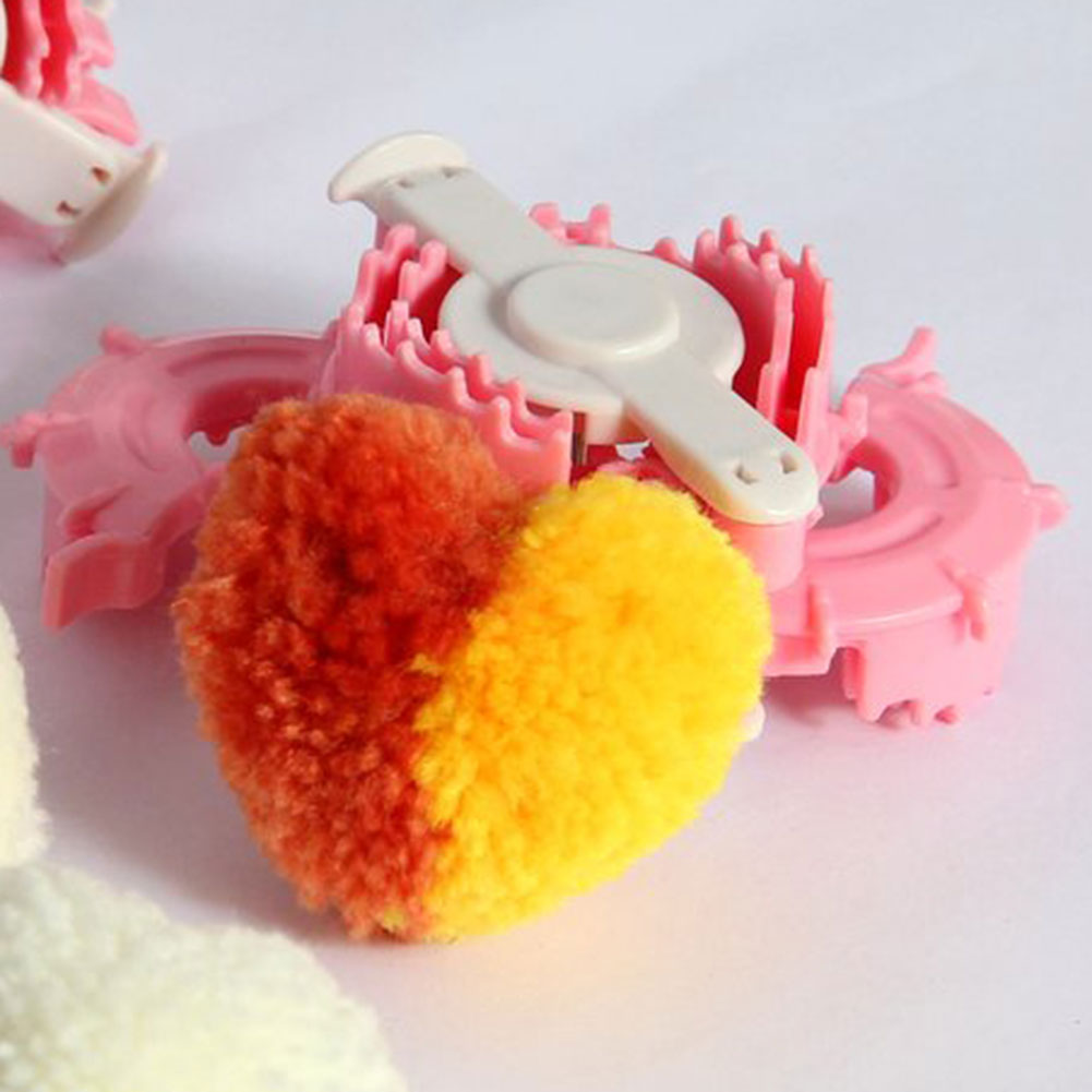 1pc essential heart shape pom pom maker kids cloths knitting loom yarn ebay. Black Bedroom Furniture Sets. Home Design Ideas