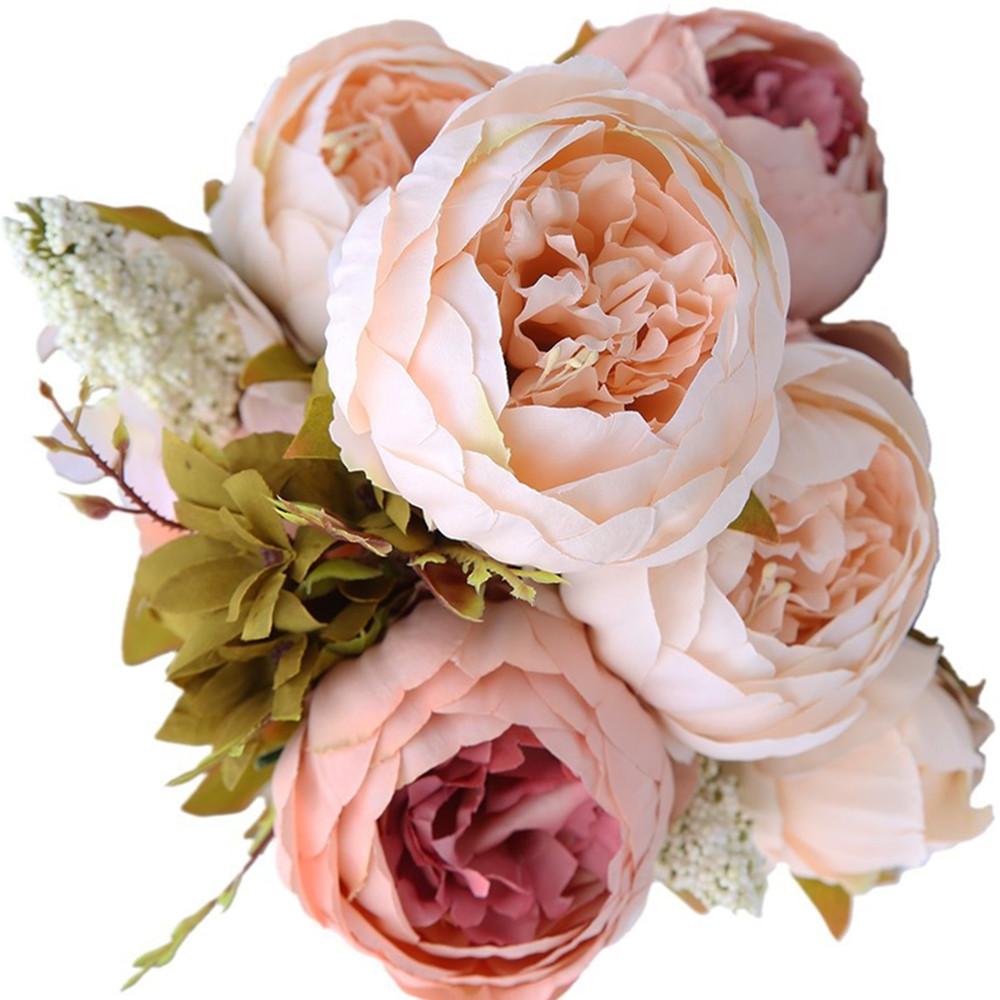 1 Bouquet Elegant Artificial Peony Flowers Fake Home Party Decor Decoration