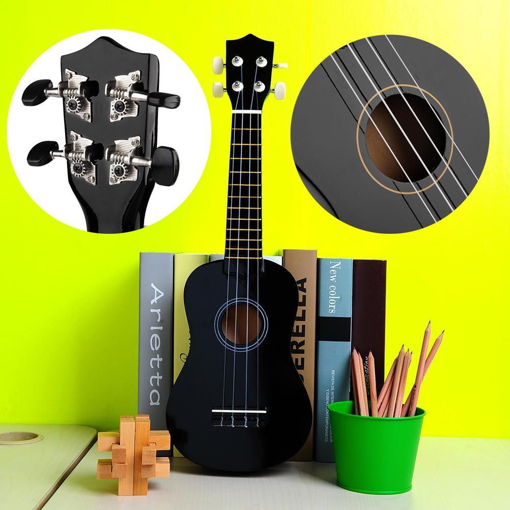 mini 21 acoustic hawaii guitar 4 strings ukulele cuatro music instrument ebay. Black Bedroom Furniture Sets. Home Design Ideas