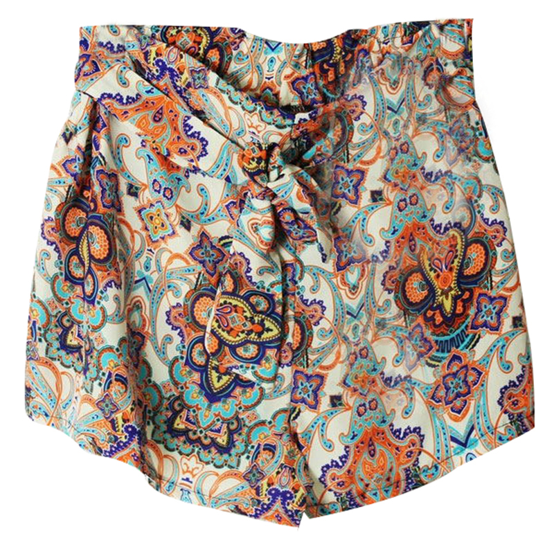 Hot Women's Lady Elastic Shorts Floral High Waist Loose Skirt Short Pants