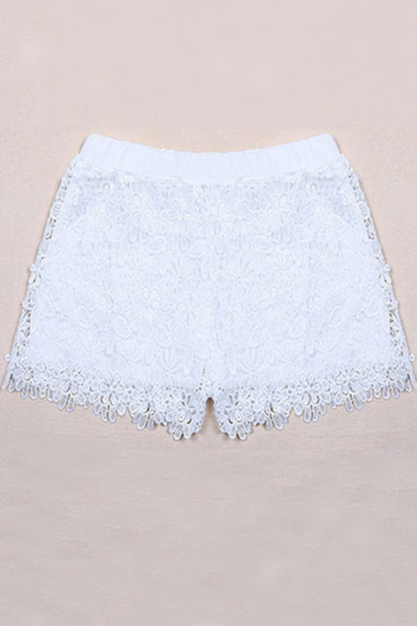 Fashion Women European Lady Elastic Shorts High Waist Lace Short Pants