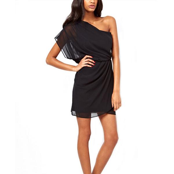 Womens Summer Solo Shoulder Skirt Evening Party Cocktail Short Mini Waist Dress
