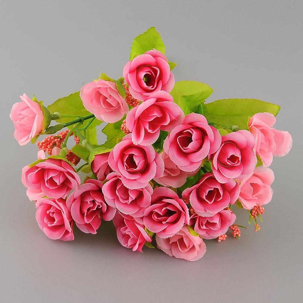 21st bund seide k nstliche rose blumen f r hochzeit partei. Black Bedroom Furniture Sets. Home Design Ideas
