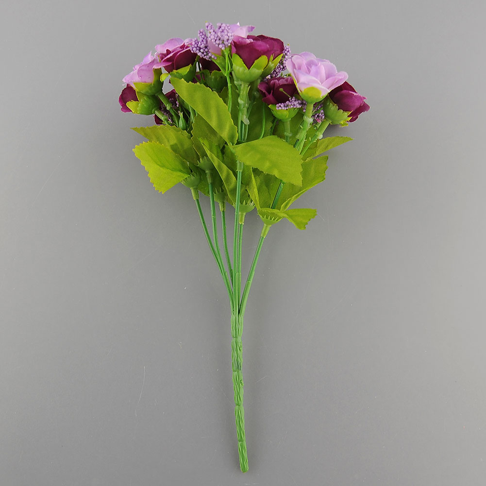 1D41-21pcs-Artificial-Rose-Flower-Silk-Flower-Arrangement-Home-Room-Decoration