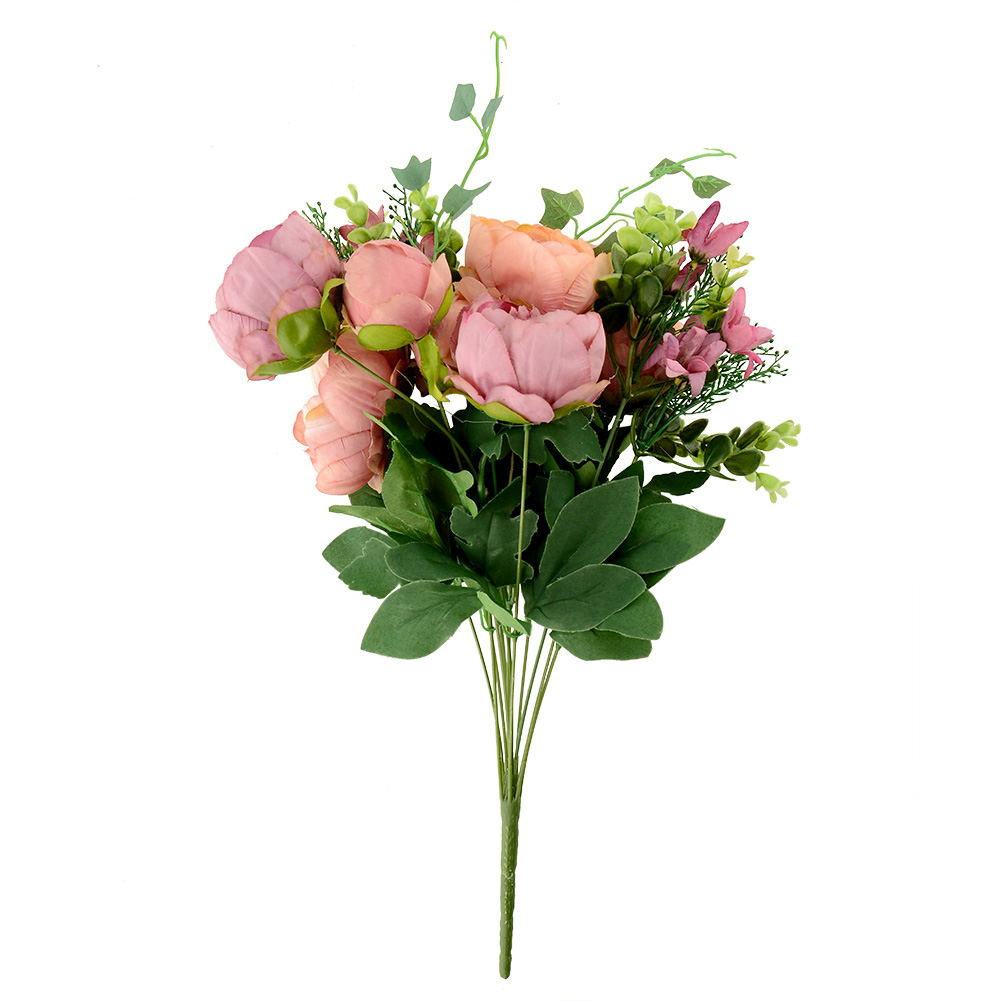 Artificial peony silk flowers bridal hydrangea party decor for Artificial decoration flowers