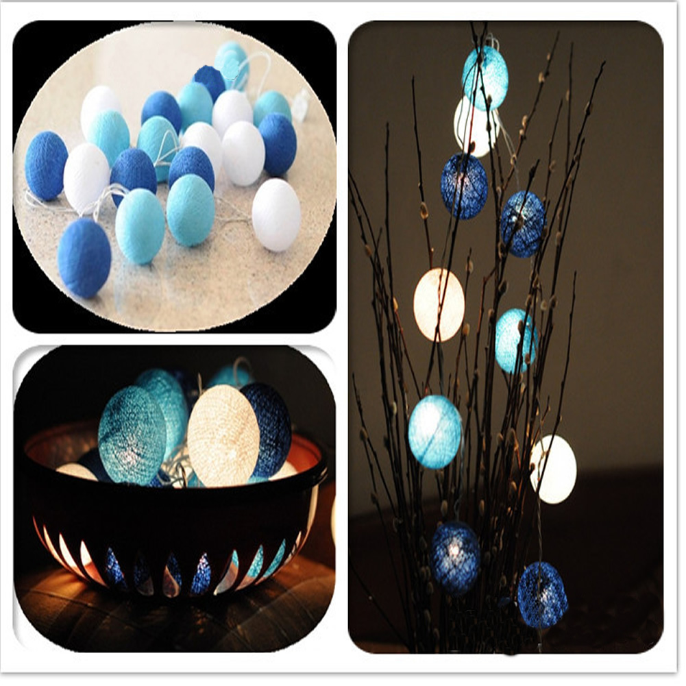 cotton ball durable fairy charming string light lamp for. Black Bedroom Furniture Sets. Home Design Ideas
