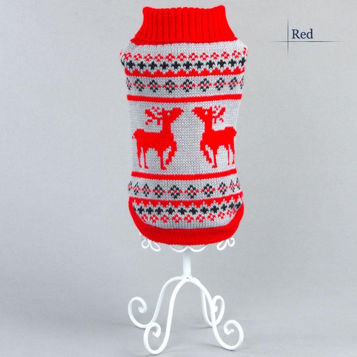 Hot Warm Pet Cat Dogs Winter Sweater Christmas Elk Knit Coats Apparel