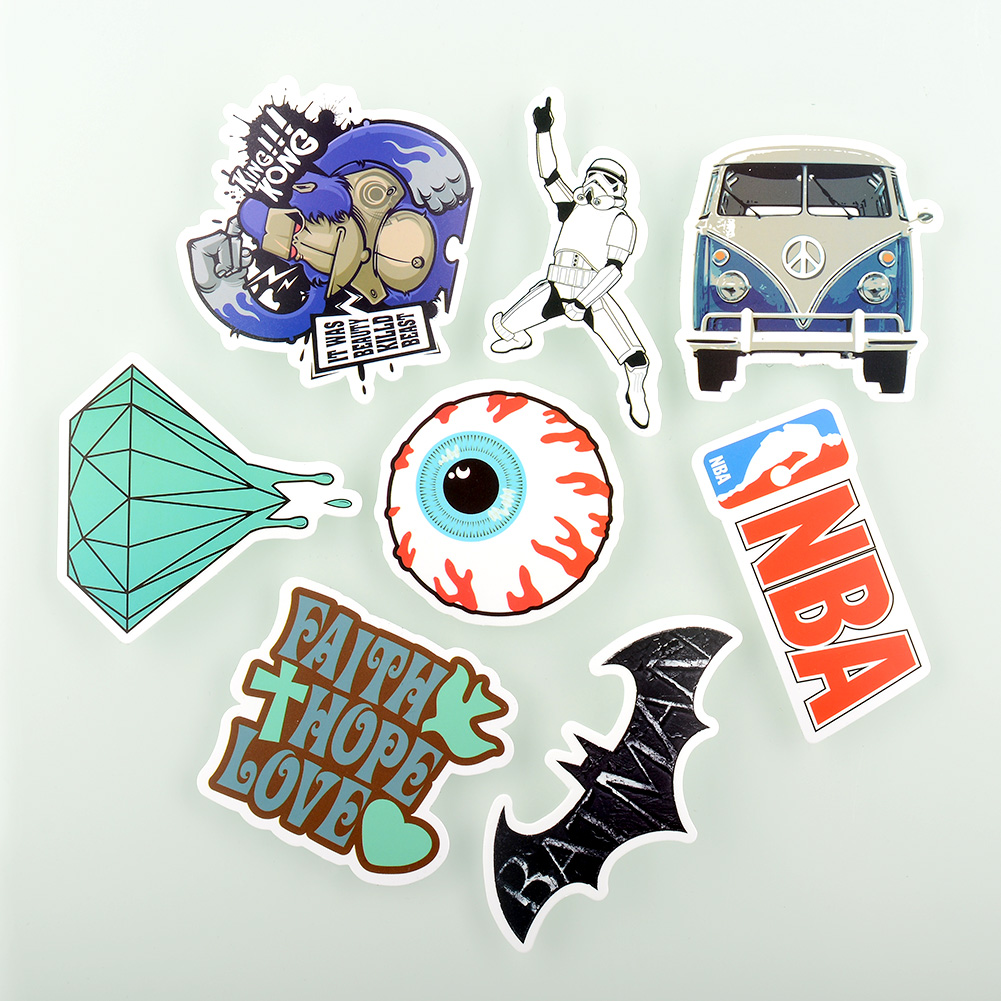 50 Pieces Stickers Skateboard Vintage Graffiti Laptop