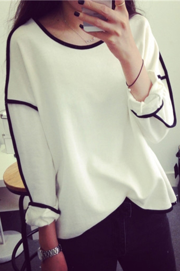 Fashion Womens Casual Tops T-shirt Design Swing OverSize Blouse Sweater Top