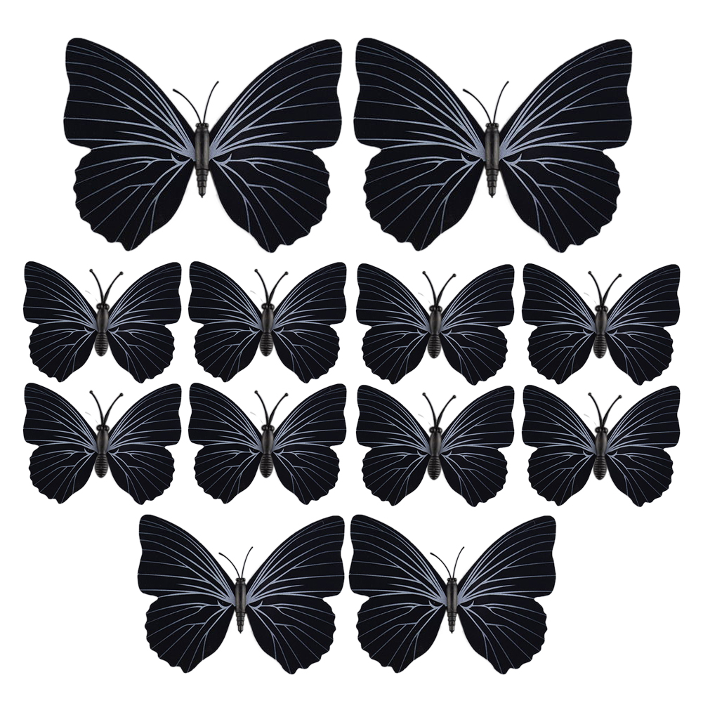 New 3d butterfly art decal wall stickers room decorations for 3d butterfly decoration