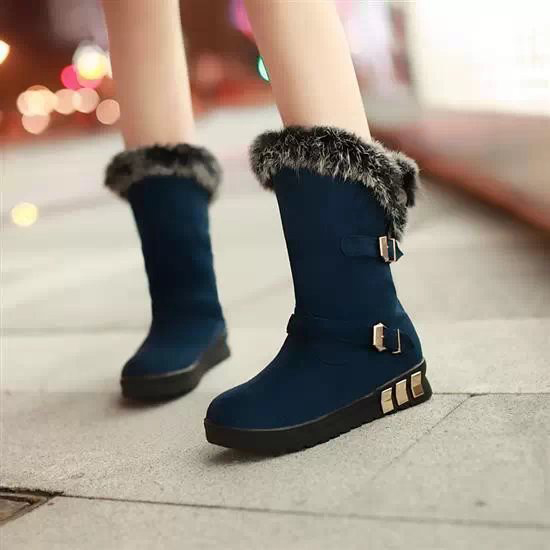 New Fashion Women Girl Winter Snow Boots Warm Faux Fur Shoes Short Boots Hot