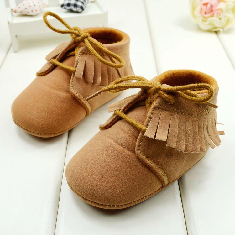 New Prewalker Infant Tassel Stylish Trainer Soft Antiskid Sneaker 3-18M