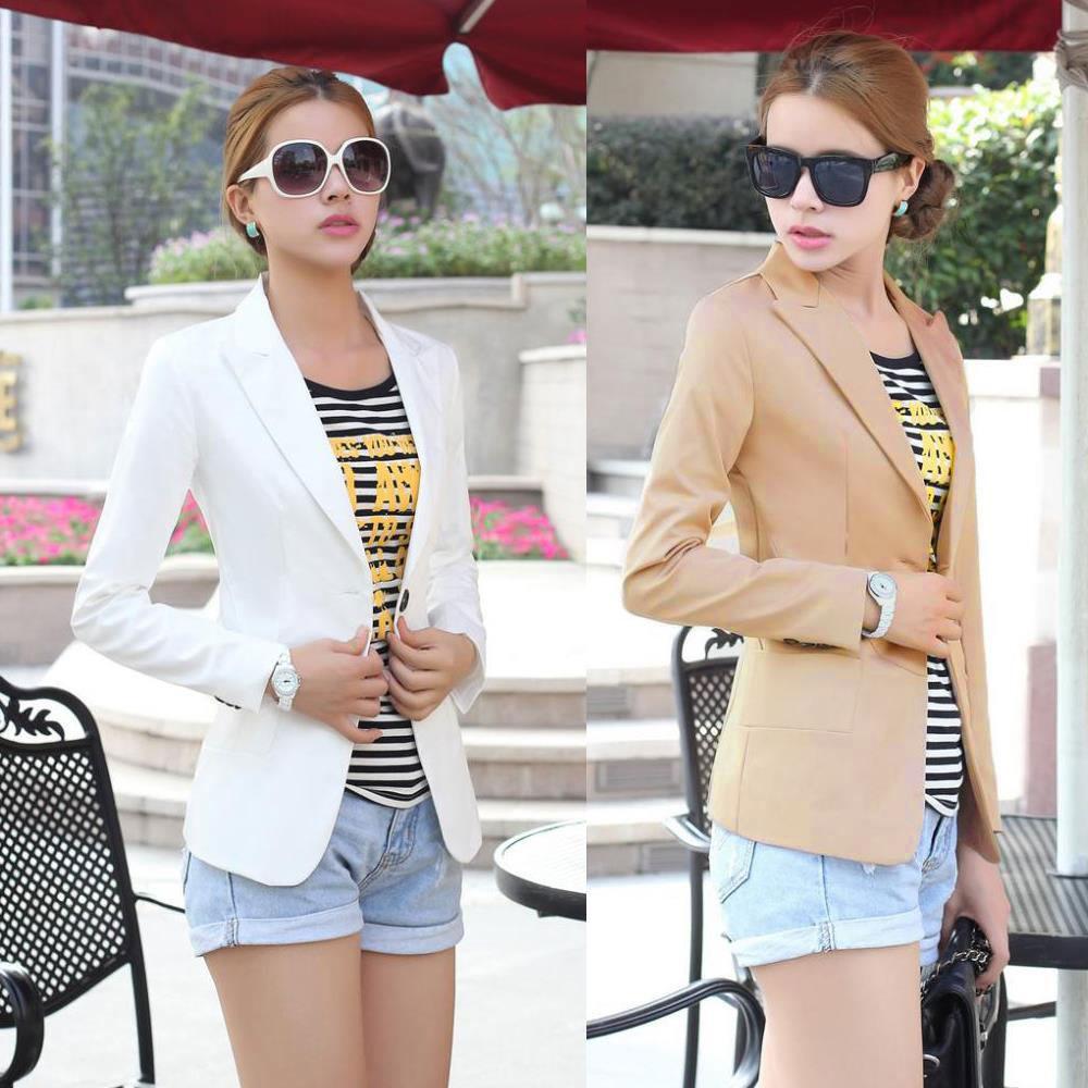 New Fashion Woman Slim Fit Fashion Casual Blazer Outwear Coat Overcoat