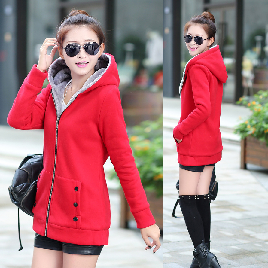 New Fashion Women Ladies Thicken Warm Hoodie Slim Jacket Comfy Long oat Outwear