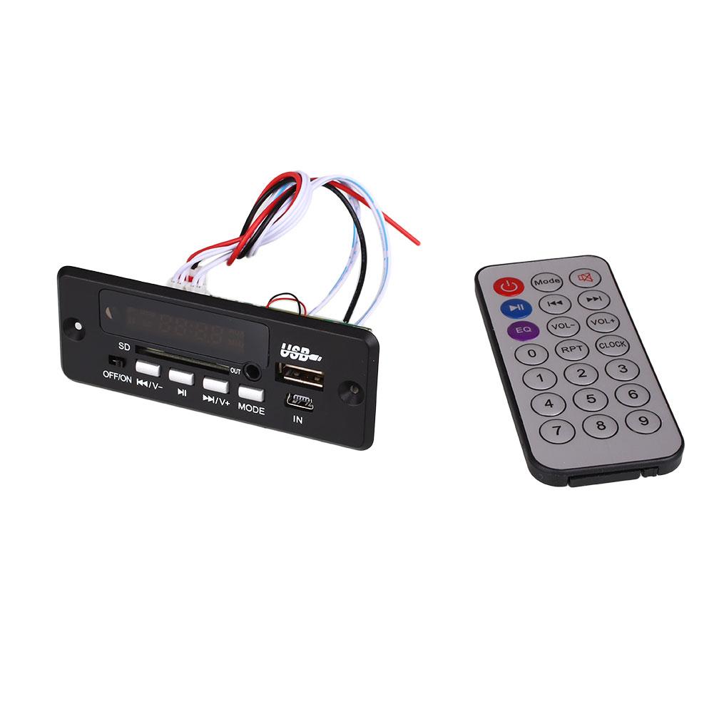 Black SD FM MP3 Player CT02EA Remote Control Bluetooth