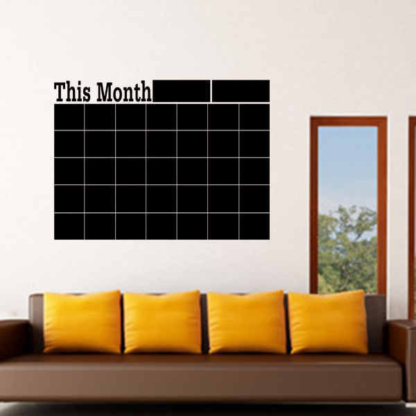 Diy Calendar Wall Art : Monthly chalkboard chalk blackboard wall sticker decor