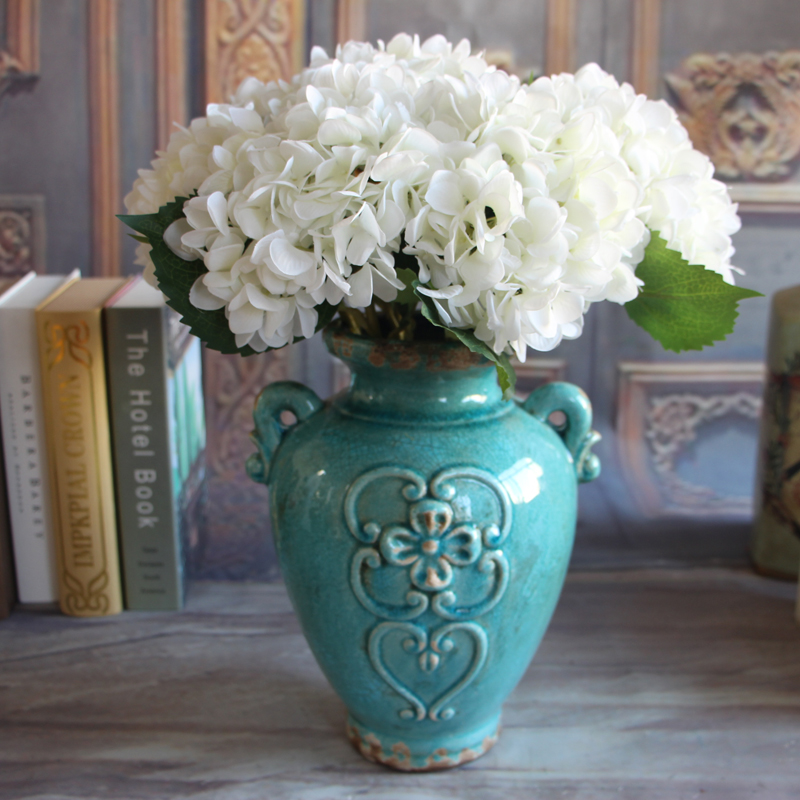 French Rose Artificial Silk Peony Flower Arrangement Room Hydrangea Home Decor