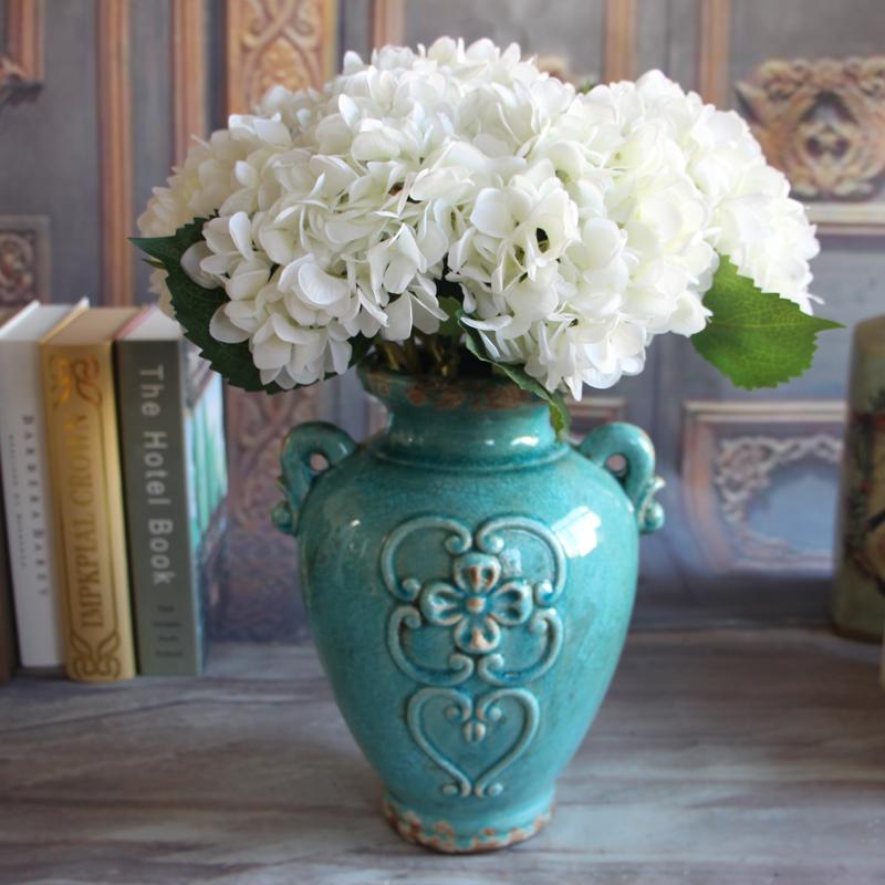 Rose 1 Bouquet Artificial Silk Peony Flower Hydrangea Wedding Decor Party DIY