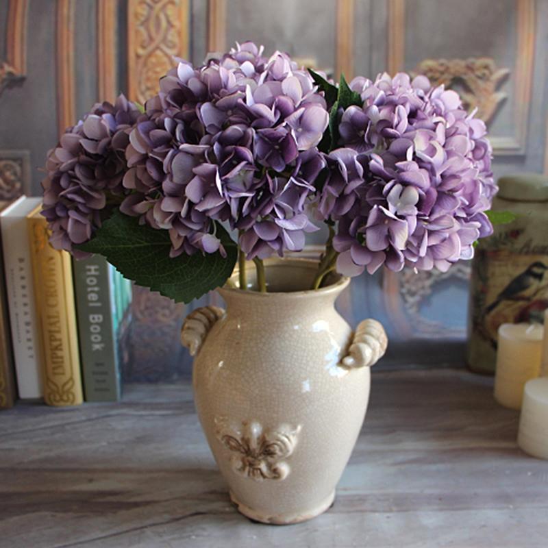 Rose Floral 1 Bouquet Artificial Peony Flower Hydrangea Decor Party DIY