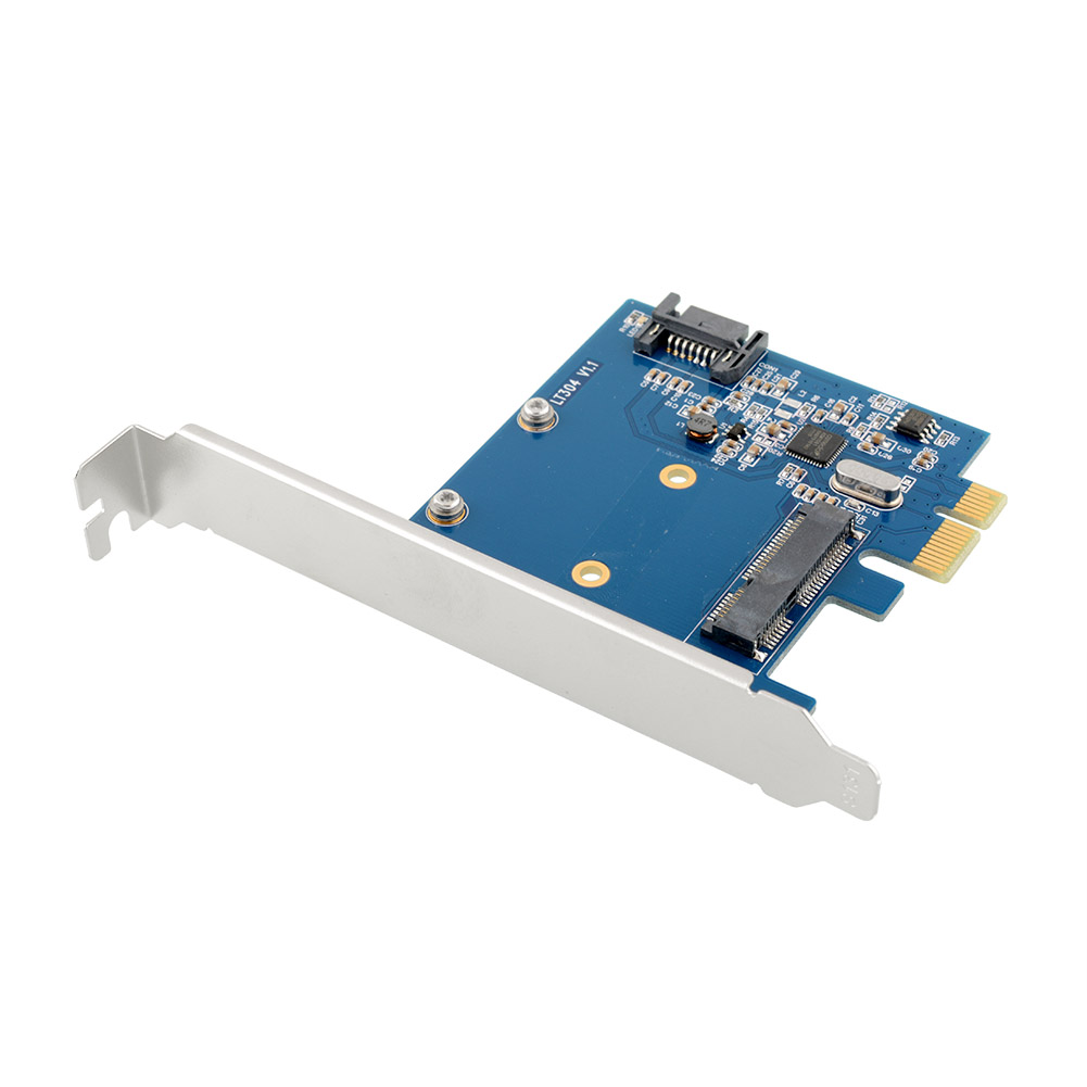 PCI-E Express to sata msata ssd extension Connector Control Card Adapter | eBay