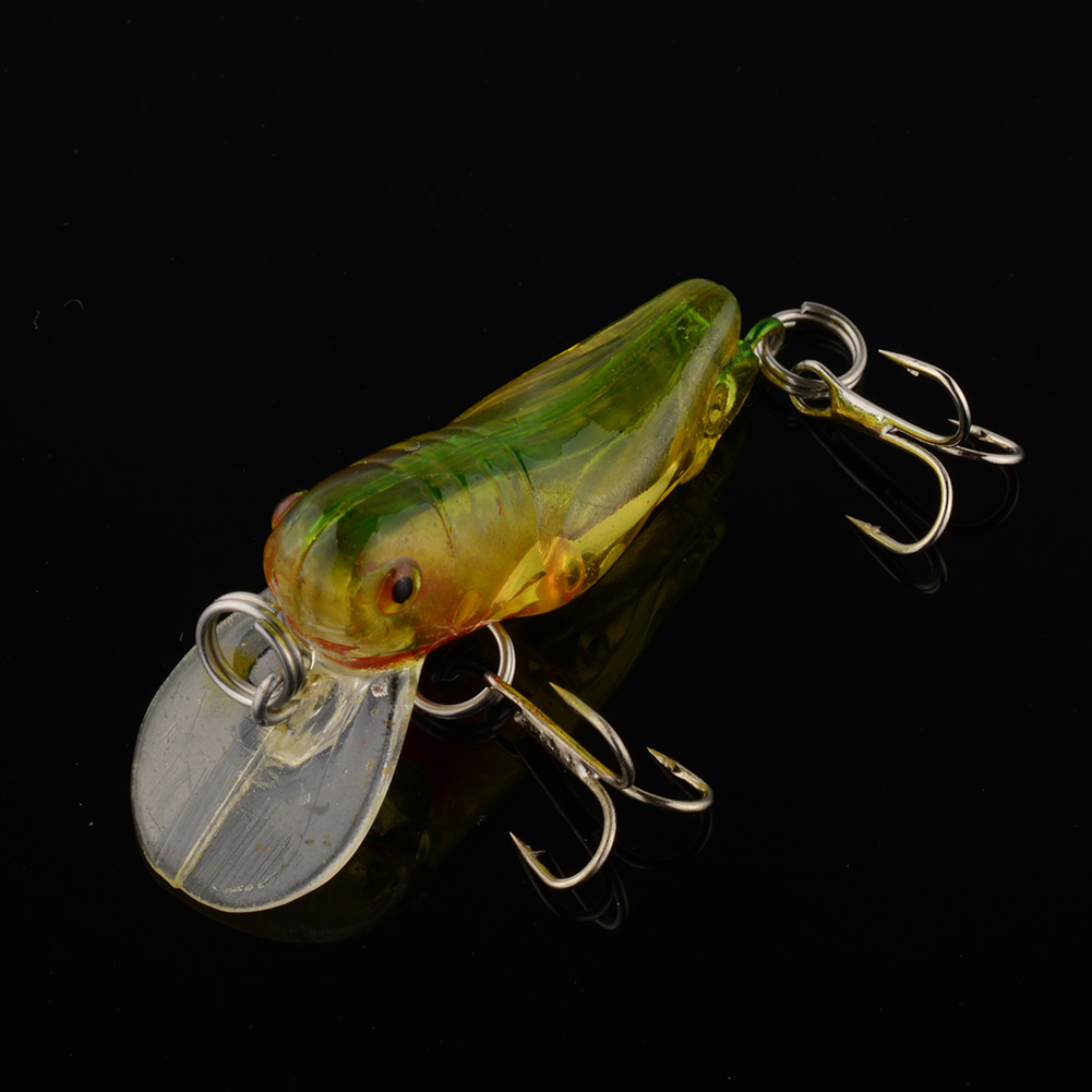 Outdoor fishing lure bass killer insect grasshopper baits for Outdoor fishing