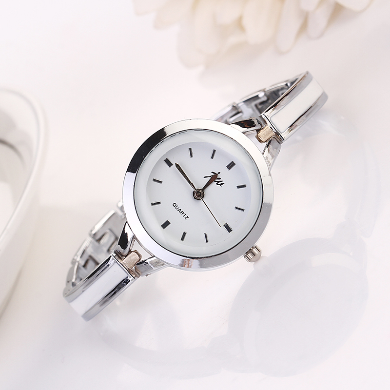 Classical Gold/Sliver Round Analog Women's Ladies Bracelet Watch Gift