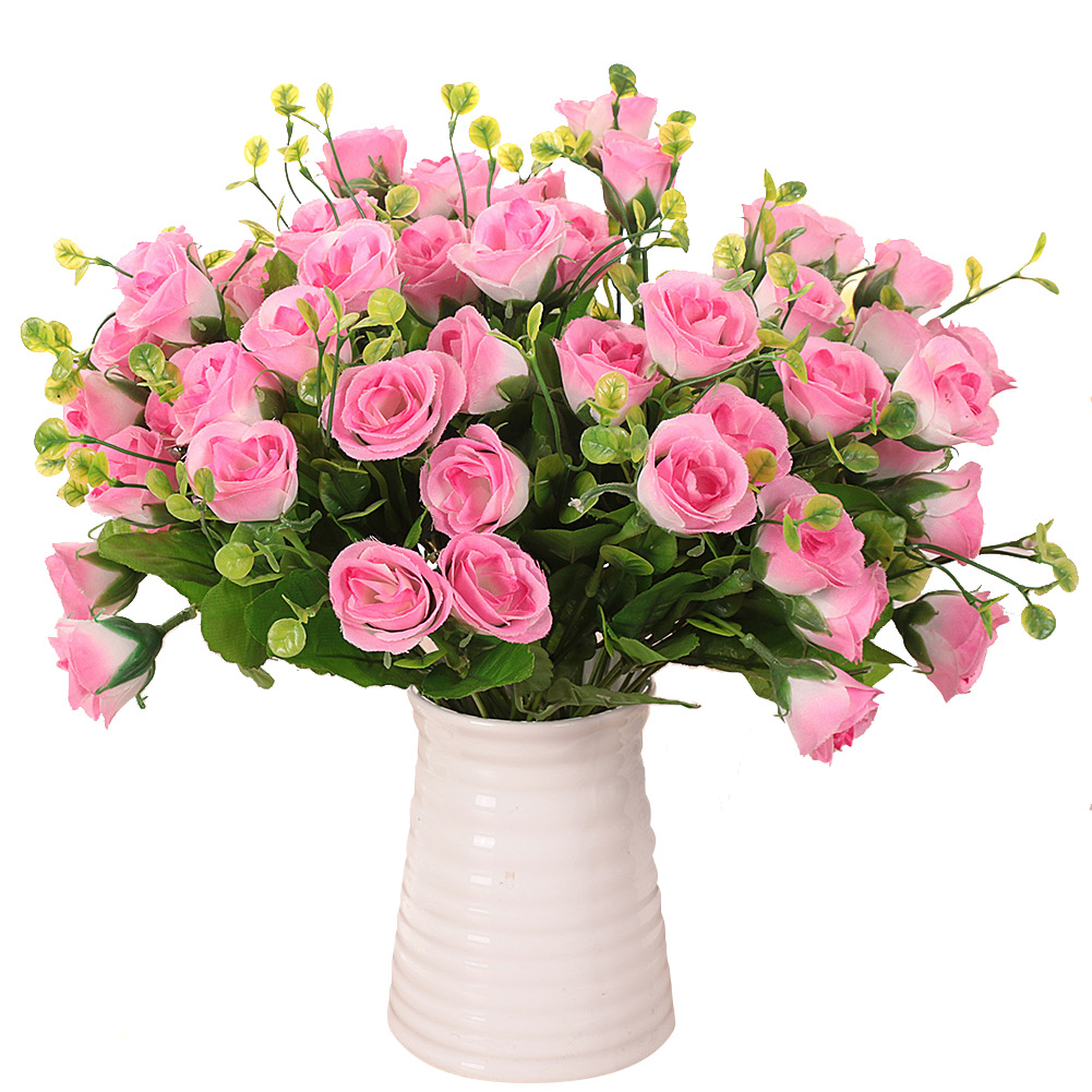 Silk Flower Bouquets Do Yourself: Artificial Silk Flower Fake Bridal Brazil Rose Bouquet