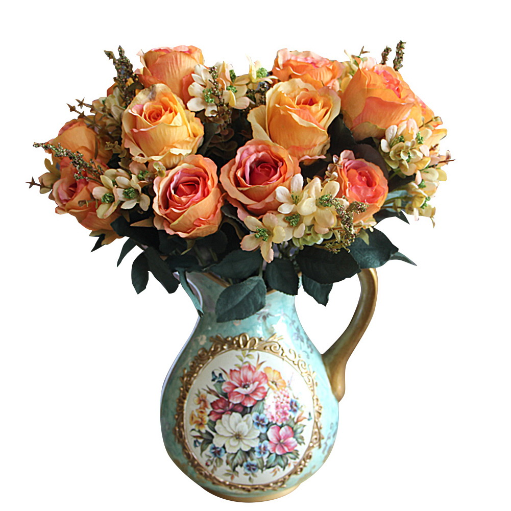 Charming Large Earl Rose Bouquet Multi Color Artificial ...