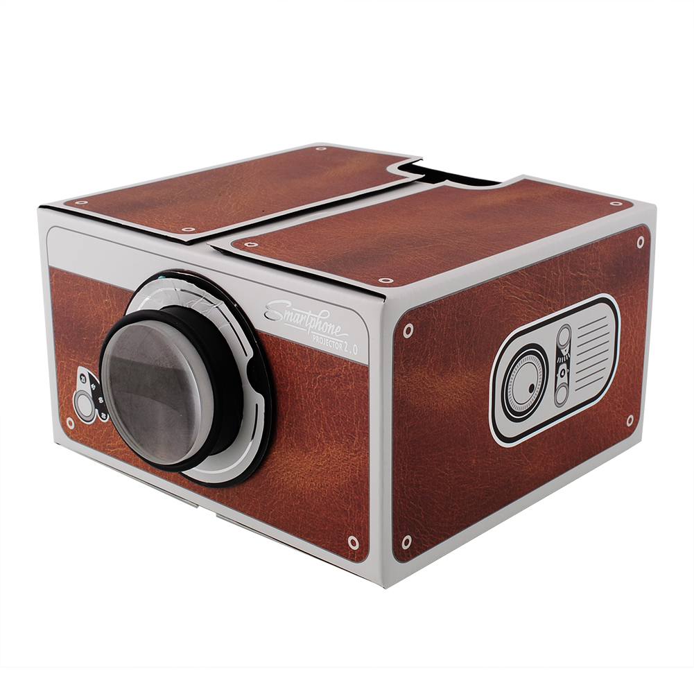 Cardboard smartphone projector 2 0 diy for mobile phone for Portable movie projector