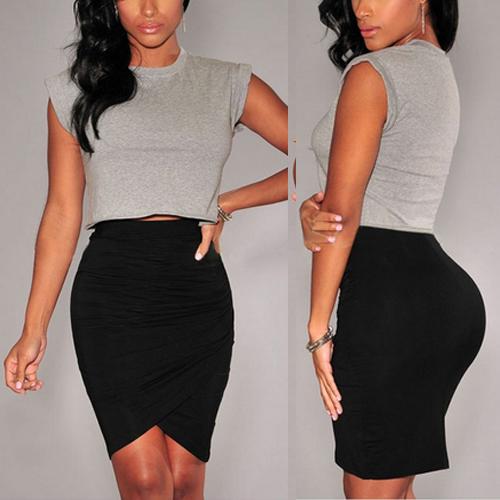 New Women's Lady Slim Skirt Clubwear Ruffle Cocktail Party Bodycon Mini Dress